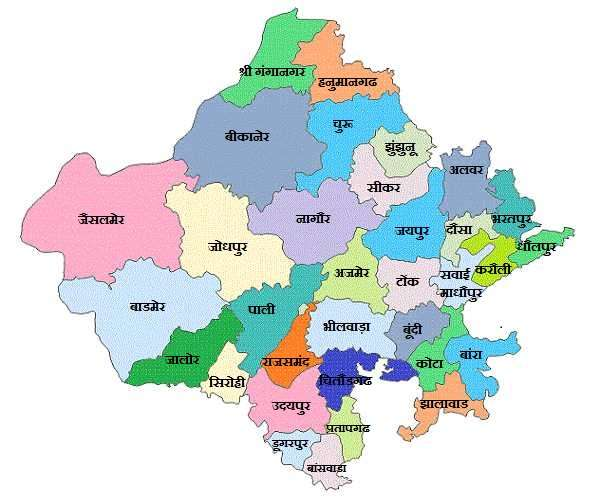 Map Of Rajsthan Rajasthan Map  RajasthanGyan